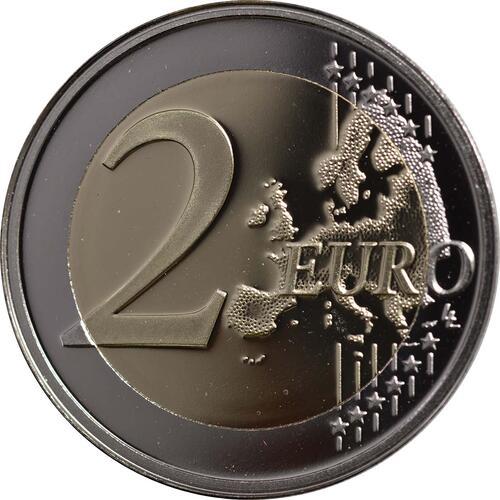 Vorderseite :Luxemburg : 2 Euro Hochzeit Guillaume und Stephanie  2012 PP