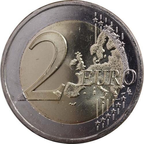 Vorderseite :Niederlande : 2 Euro Thronwechsel - Doppelportrait Beatrix / Willem Alexander  2013 Stgl.