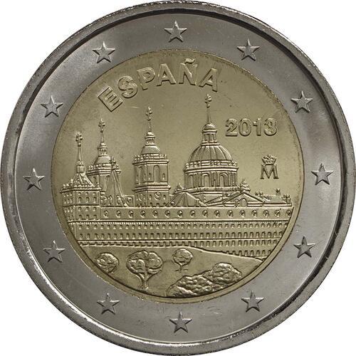 Rückseite:Spanien : 2 Euro El Escorial  2013 bfr