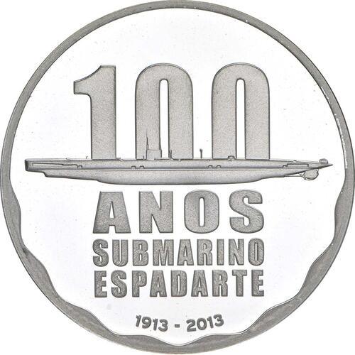 Vorderseite:Portugal : 2,5 Euro 100 Jahre erstes portugiesisches U-Boot  2013 PP
