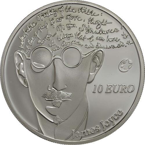 Vorderseite:Irland : 10 Euro James Joyce  2013 PP