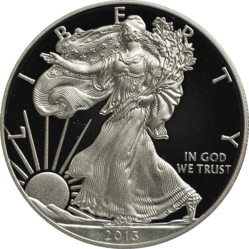 Vorderseite :USA : 1 Dollar Eagle 1oz  2013 PP