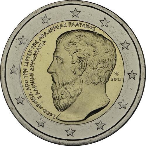 Rückseite :Griechenland : 2 Euro Platon Akademie  2013 bfr