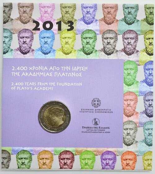Lieferumfang :Griechenland : 2 Euro Platon Akademie  2013 Stgl.