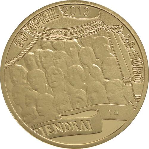 Rückseite:Niederlande : 20 Euro König Willem Alexander  2013 PP