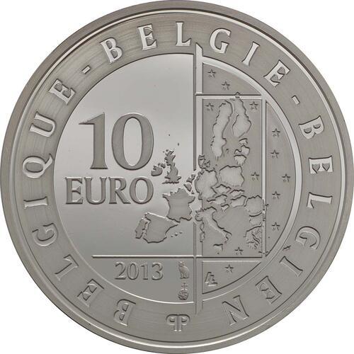 Rückseite:Belgien : 10 Euro Hugo Claus  2013 PP