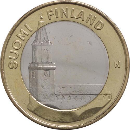 Vorderseite:Finnland : 5 Euro Finnland - Kathedrale Turku  2013 Stgl.