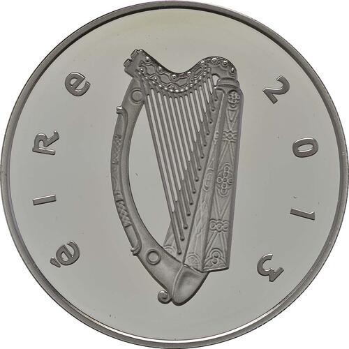 Rückseite:Irland : 10 Euro 50 Jahre Irlandbesuch v. J. F. Kennedy  2013 PP