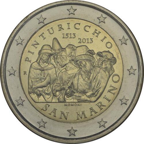 Rückseite :San Marino : 2 Euro Pinturicchio  2013 Stgl.