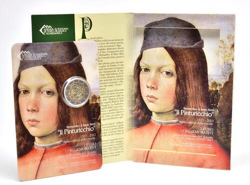 Lieferumfang :San Marino : 2 Euro Pinturicchio  2013 Stgl.