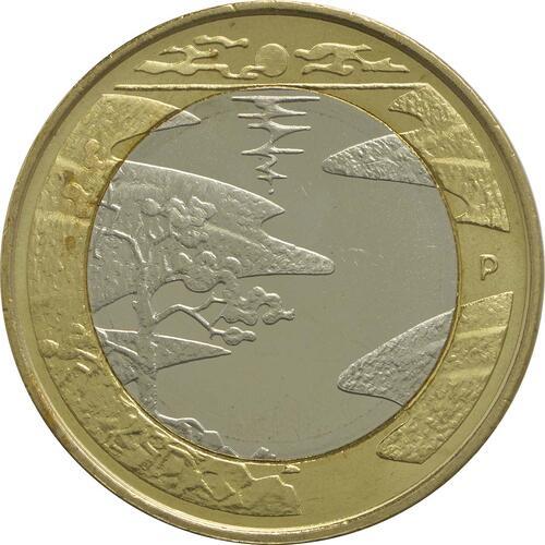 Vorderseite:Finnland : 5 Euro Sommer  2013 vz/Stgl.