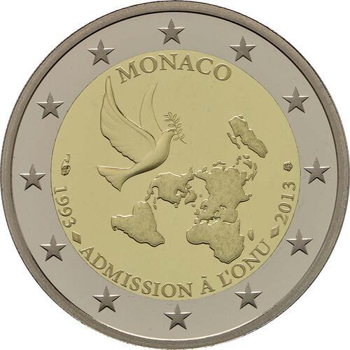 Rückseite :Monaco : 2 Euro Uno  2013 PP