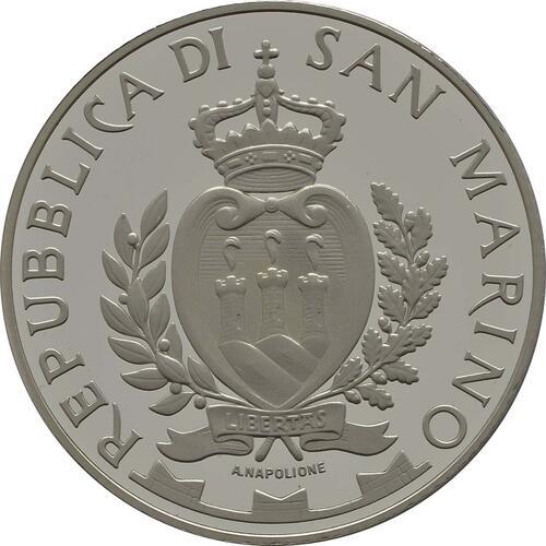 Rückseite:San Marino : 5 Euro 100 Jahre Opernfestival in Verona  2013 PP