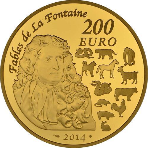 Rückseite:Frankreich : 200 Euro Jahr des Pferdes  2014 PP
