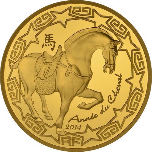 Vorderseite:Frankreich : 200 Euro Jahr des Pferdes  2014 PP