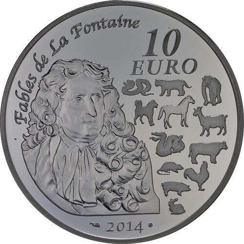 Rückseite:Frankreich : 10 Euro Jahr des Pferdes  2014 PP