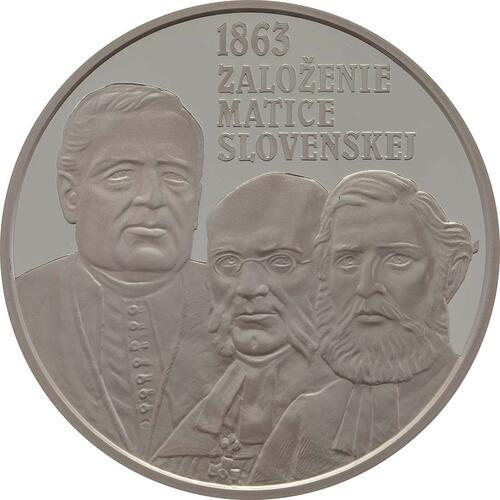 Vorderseite:Slowakei : 10 Euro 150. Jahrestag der Matica Slovenska  2013 PP