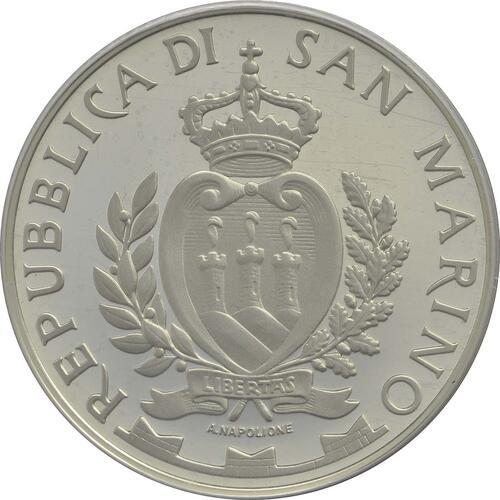 Rückseite:San Marino : 5 Euro John F. Kennedy  2013 PP