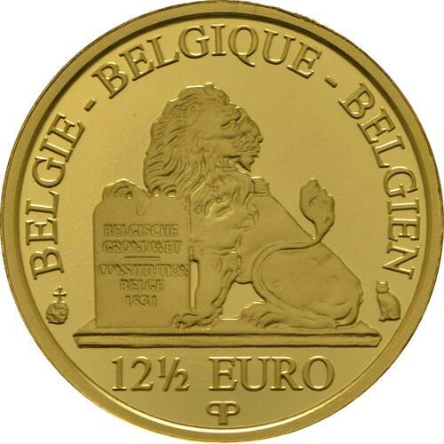 Rückseite:Belgien : 12,5 Euro Königin Fabiola  2013 PP