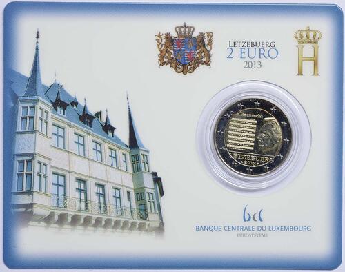 Lieferumfang :Luxemburg : 2 Euro Nationalhymne  2013 Stgl.