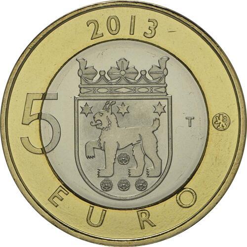 Rückseite:Finnland : 5 Euro Tavastia  2013 Stgl.