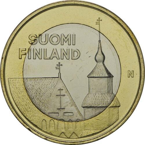 Vorderseite:Finnland : 5 Euro Tavastia  2013 Stgl.