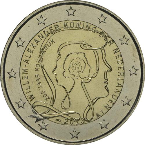Rückseite:Niederlande : 2 Euro Königreich  2013 bfr