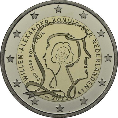 Rückseite :Niederlande : 2 Euro Königreich  2013 PP