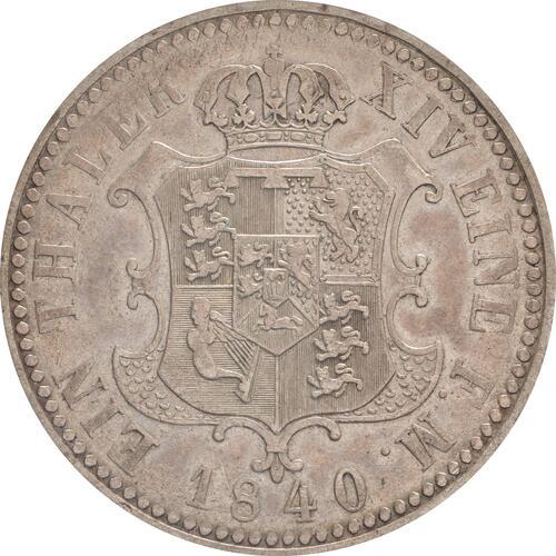 Rückseite:Deutschland : 1 Taler Ernst August patina 1840 ss/vz.