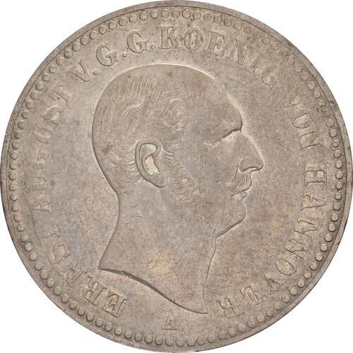 Vorderseite:Deutschland : 1 Taler Ernst August patina 1840 ss/vz.