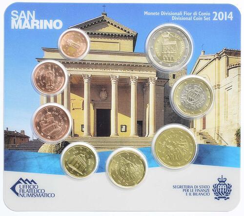 Rückseite:San Marino : 3,88 Euro KMS San Marino  2014 Stgl.