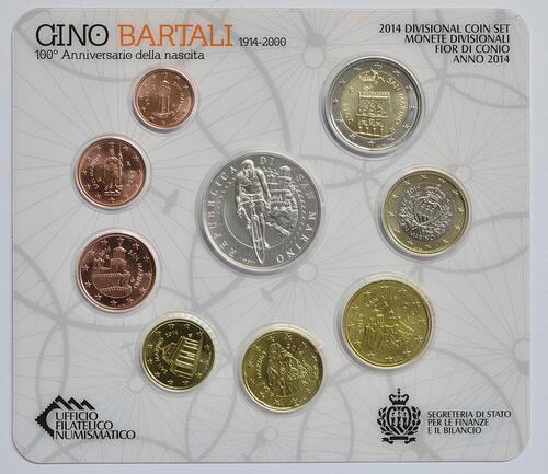 Rückseite:San Marino : 8,88 Euro KMS San Marino  2014 Stgl.