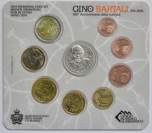 Vorderseite:San Marino : 8,88 Euro KMS San Marino  2014 Stgl.
