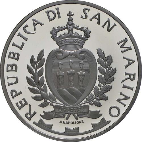 Rückseite:San Marino : 10 Euro Ponte Tiberio in Rimini  2014 PP