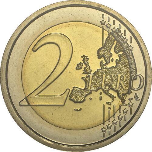 Vorderseite:San Marino : 2 Euro 90. Todestag von Giacomo Puccini  2014 Stgl.