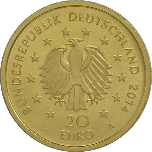 Rückseite:Deutschland : 20 Euro Kastanie  2014 Stgl.