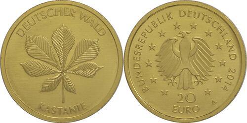 Lieferumfang:Deutschland : 20 Euro Kastanie  2014 Stgl.