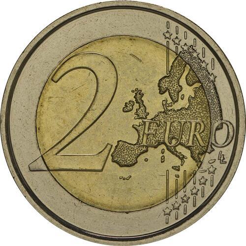 Vorderseite:Belgien : 2 Euro 100. Jahrestag des Beginns des 1. Weltkrieges  2014 bfr