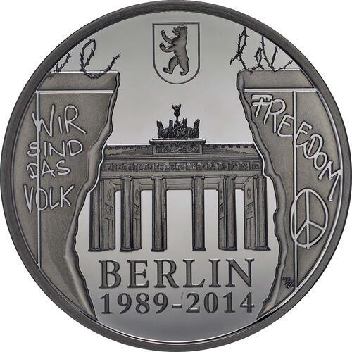 Vorderseite:Belgien : 20 Euro 25 Jahre Fall der Berliner Mauer  2014 PP