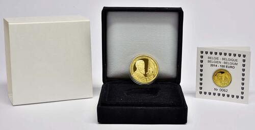 Lieferumfang:Belgien : 100 Euro 500. Geburtstag von Andreas Vesalius  2014 PP