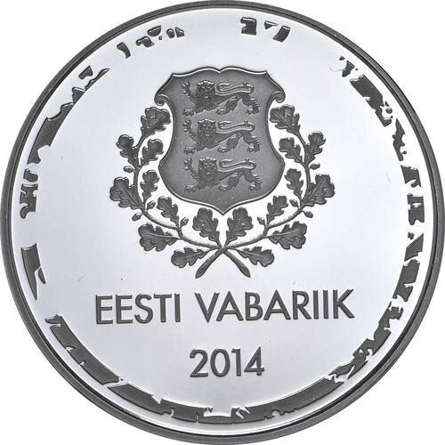 Vorderseite:Estland : 10 Euro Olympische Winterspiele in Sotschi 2014  2014 PP