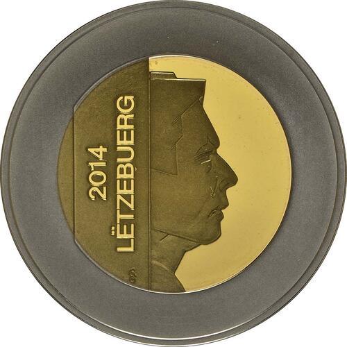 Rückseite:Luxemburg : 5 Euro Apfelbaum  2014 PP