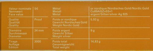 Zertifikat:Luxemburg : 5 Euro Apfelbaum  2014 PP