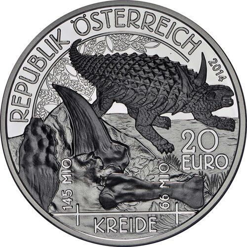 Vorderseite:Österreich : 20 Euro Kreide - Leben auf der Erde  2014 PP