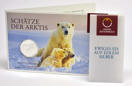 Lieferumfang:Österreich : 5 Euro Abenteuer Arktis  2014 Stgl.