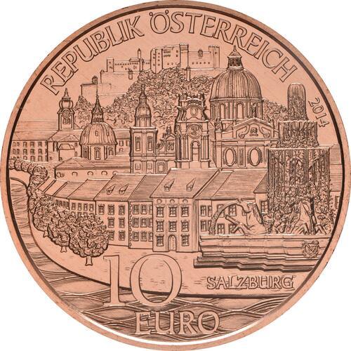 Rückseite:Österreich : 10 Euro Salzburg  2014 Stgl.