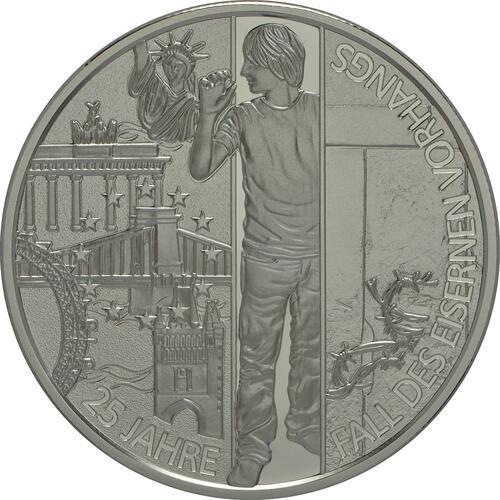 Vorderseite:Österreich : 20 Euro 25 Jahre Fall des Eisernen Vorhangs  2014 PP