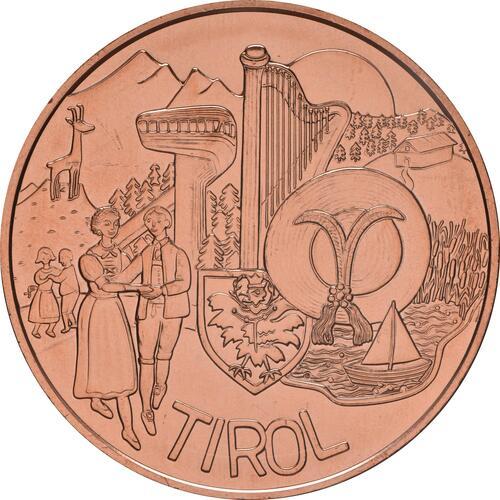 Vorderseite:Österreich : 10 Euro Tirol  2014 Stgl.