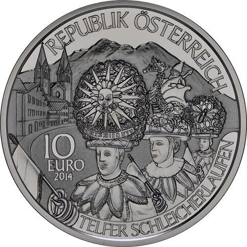 Rückseite:Österreich : 10 Euro Tirol  2014 PP
