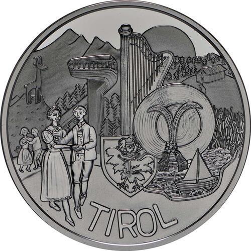 Vorderseite:Österreich : 10 Euro Tirol  2014 PP